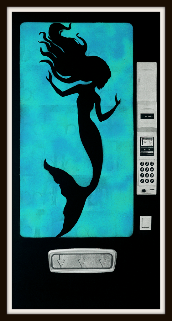 Mermaid in the Machine Limited Edition Print -  Paper and Fabric