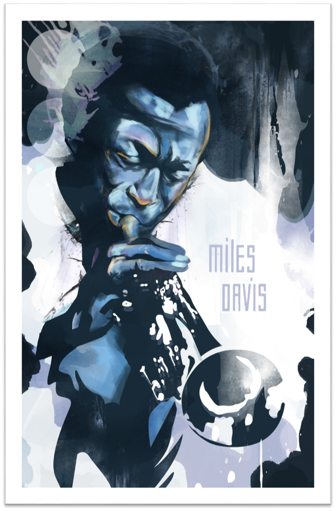 Miles Davis Limited Edition Print -  Paper and Fabric