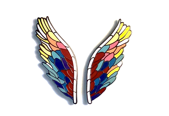 Official Global Angel Wings Pin Set -  Paper and Fabric