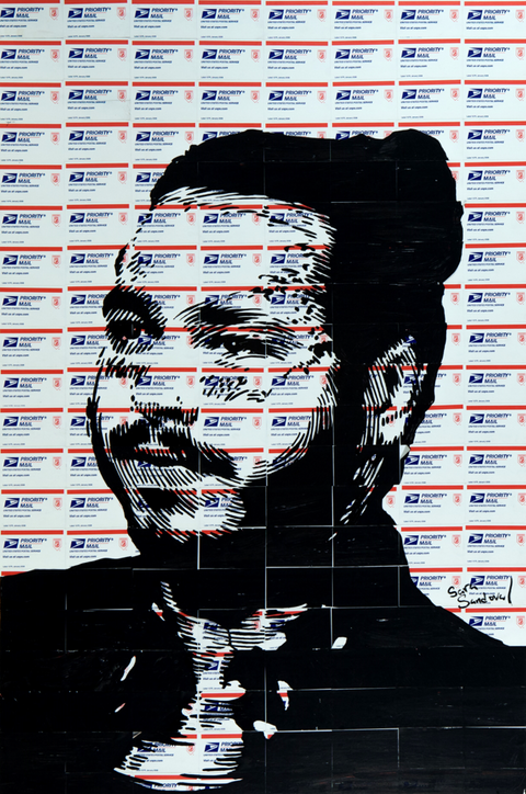 Postal Malone Print -  Paper and Fabric