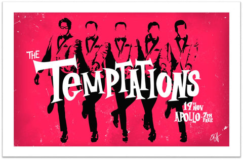 The Temptations Limited Edition Print -  Paper and Fabric