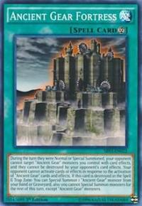 Yugioh Ancient Gear Fortress (nonfoil) 1st edition