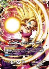Dragon Ball Super Single Caulifla // Caulifla Running Wild (foil) promo