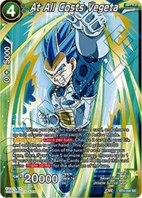 Dragon Ball Super Single At All Costs Vegeta (foil)