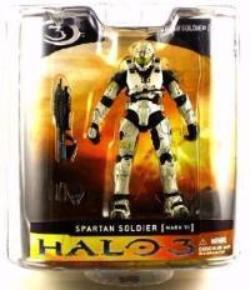 Halo 3 Series 1 - Spartan Soldier Mark VI Armor (White)