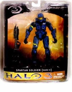 Halo 3 Mcfarlane Toys Series 1 Exclusive Action Figure BLUE Spartan Soldier