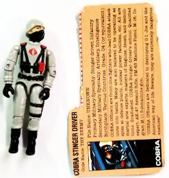 GI JOE COBRA STINGER DRIVER 1983 (New O-Ring)