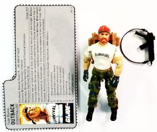 GI Joe Figure Outback 1987 (New O-Ring)