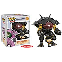 Funko Pop! Vinyl Overwatch Carbon Fiber D.Va & MEKA Buddy Exclusive #177