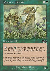 Magic the gathering Priest of Titania (nonfoil)