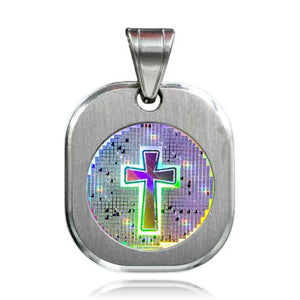 Nano Bible with Cross 304 SS Pendant