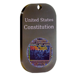 Nano Constitution of the U.S. Anodized Aluminum Dog Tag