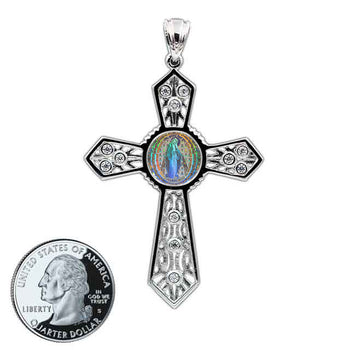 Miraculous Medal Cross 12