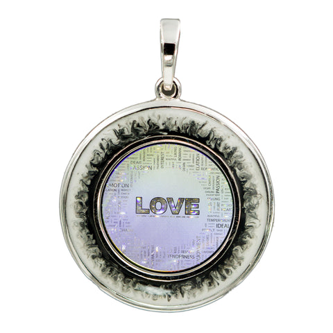 Love Collage Pendant 2