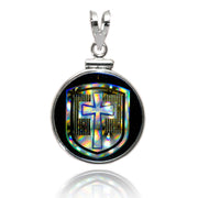 Nano New Testament Shield Sterling Silver