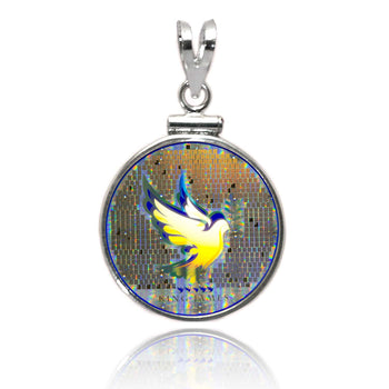 Nano Bible Dove in Classic Sterling Pendant