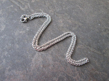 "17 3/4"" Stainless Steel Wheat Chain with Lobster Claw Clasp Unisex chains Foxtail chain necklace Unisex chains"