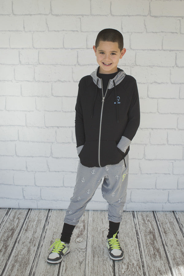 Boys Anchor Harem Pant