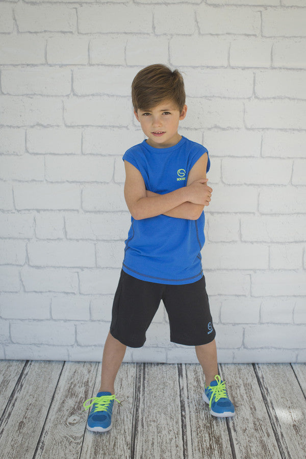 Boys Black Mesh Short