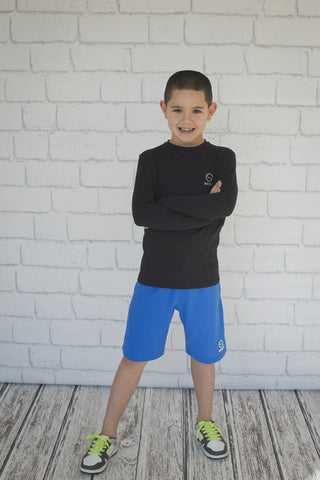 Boys Long Blue Short