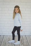 Girls Icy Blue Long Sleeve Top