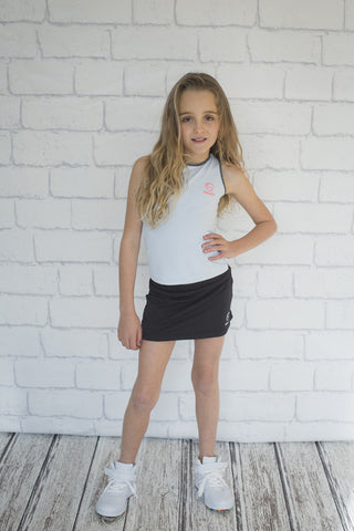 Girls Black Jacquard Skirt