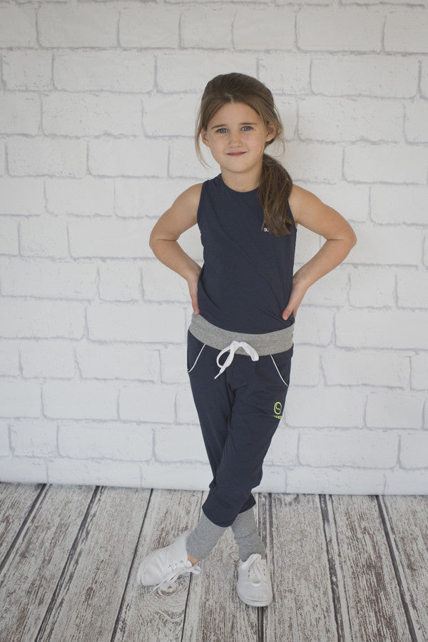 Girls Navy Trackpant