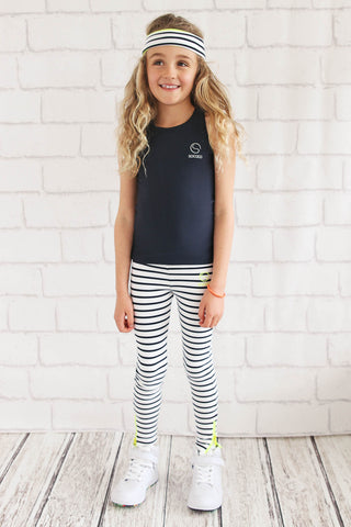 Girls Stripe Leggings