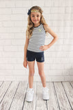 Girls Navy Sprint Short