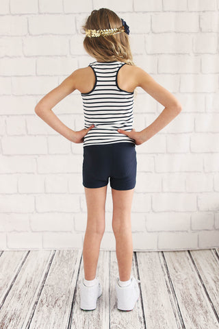 Girls Black Sprint Short