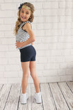 Girls Silver Jacquard Sprint Short