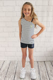 Girls Stripe One Shoulder Singlet