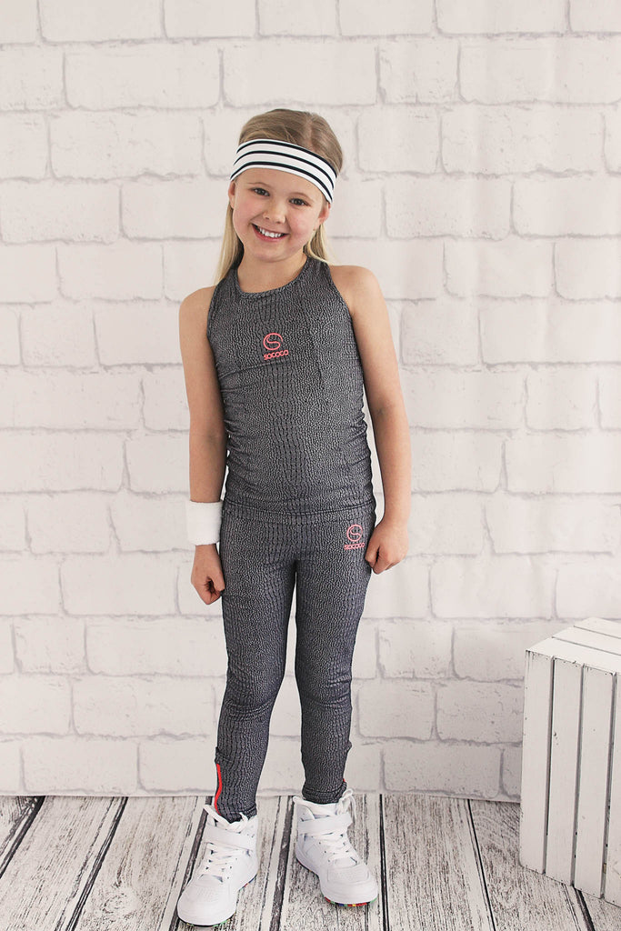 Girls Jacquard Leggings
