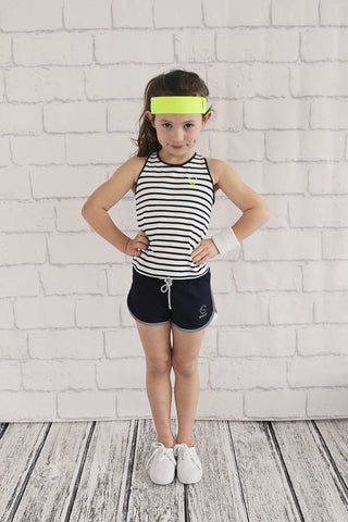 Girls Stripe Sport Singlet