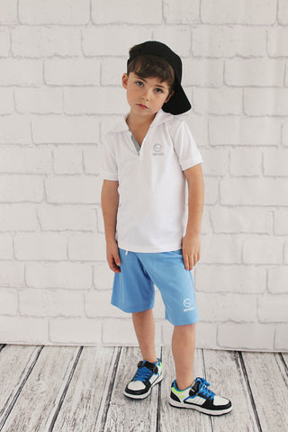 Boys White Sport Polo