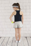 Girls Navy Singlet