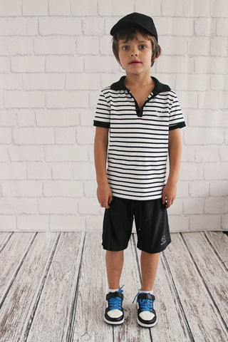 Boys Stripe Sport Polo
