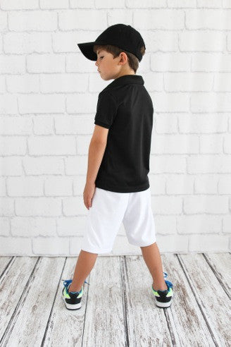 Boys Long White Shorts