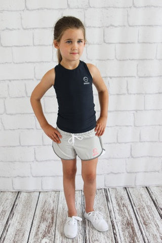 Girls Silver Running Short