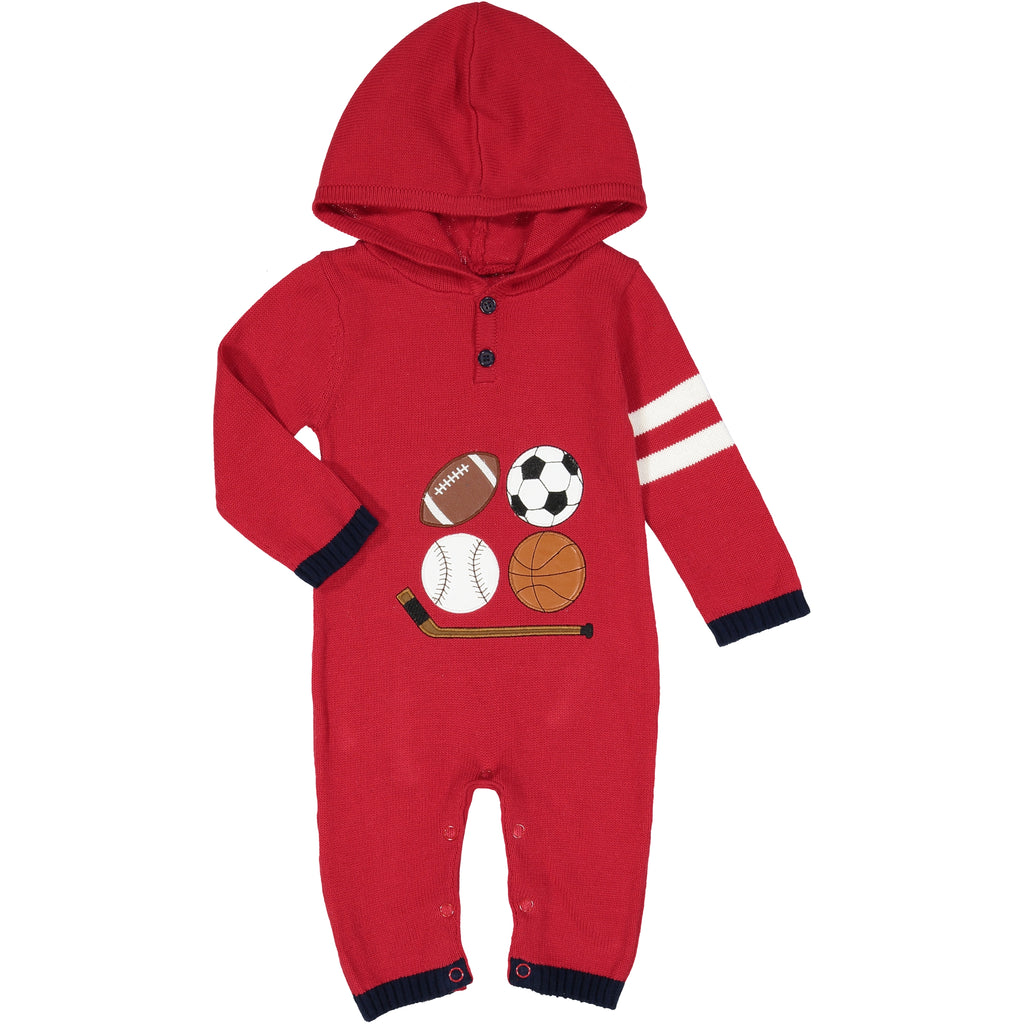 Maroon Sports Romper - Andy & Evan