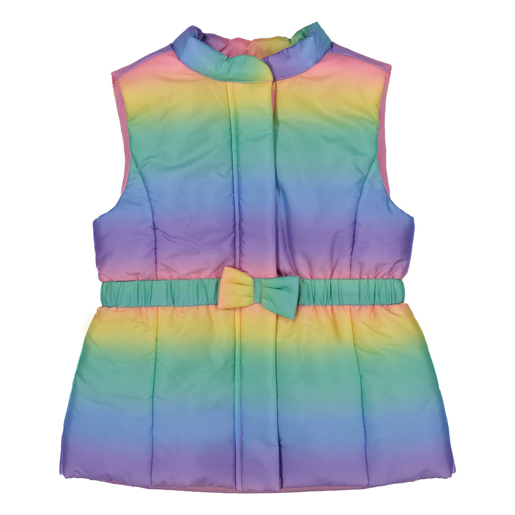 Girls Rainbow Puffer Vest - Andy & Evan
