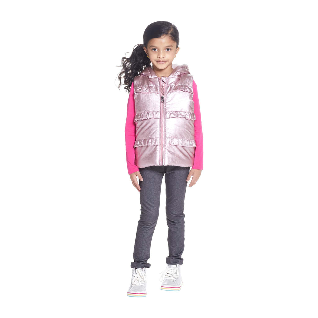 Girls Hooded Sherpa Vest - Andy & Evan