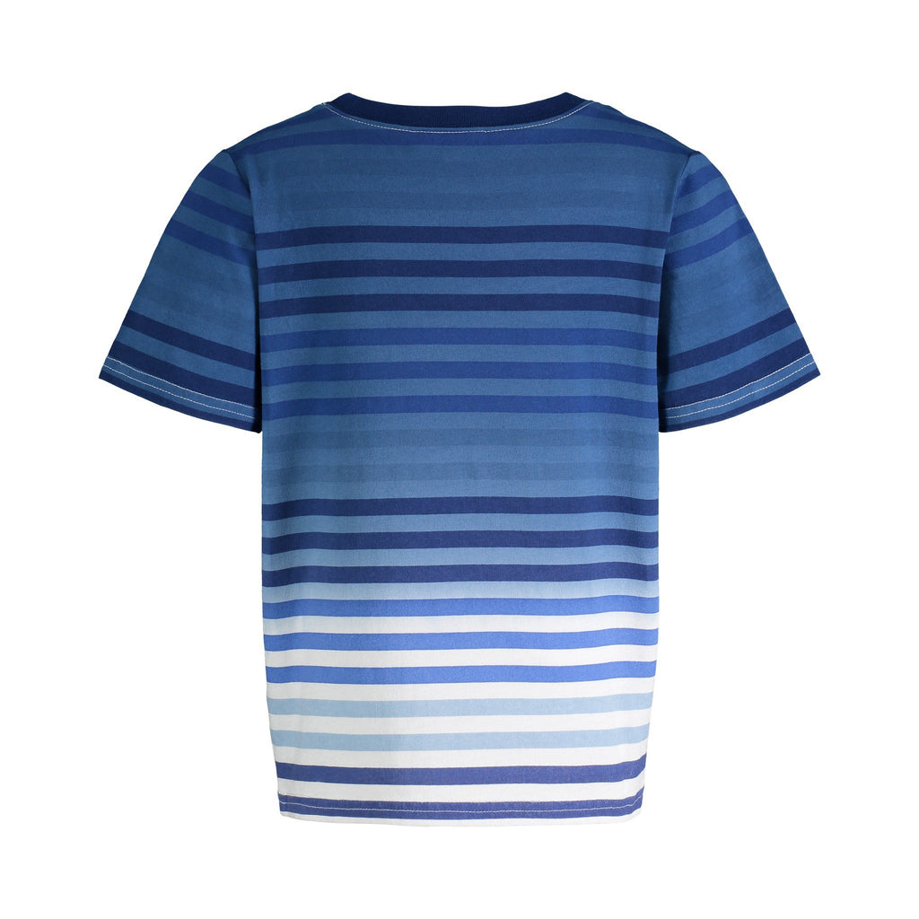 Blue Ombre Stripe Tee - Andy & Evan