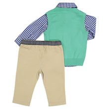 Load image into Gallery viewer, Mint Sweater Vest Infant Set - Andy & Evan