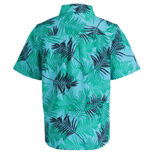 Load image into Gallery viewer, Teal Large Palm Print Short Sleeve Button-down - Andy & Evan