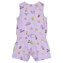 Load image into Gallery viewer, Purple Baby Summer Romper - Andy & Evan