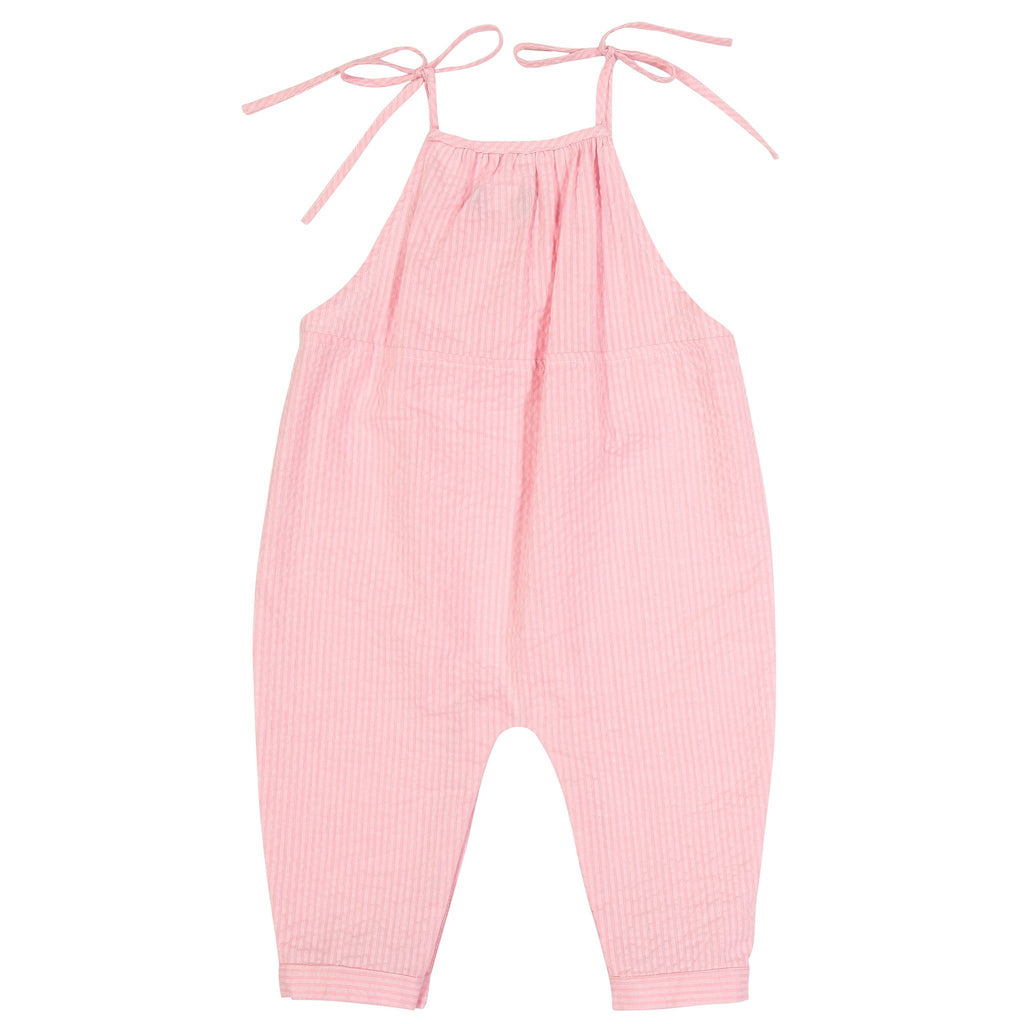 Pink Seersucker Baby Jumper - Andy & Evan