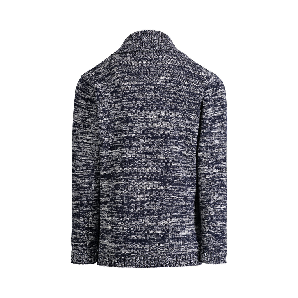 Blue Marled Cardigan - Andy & Evan