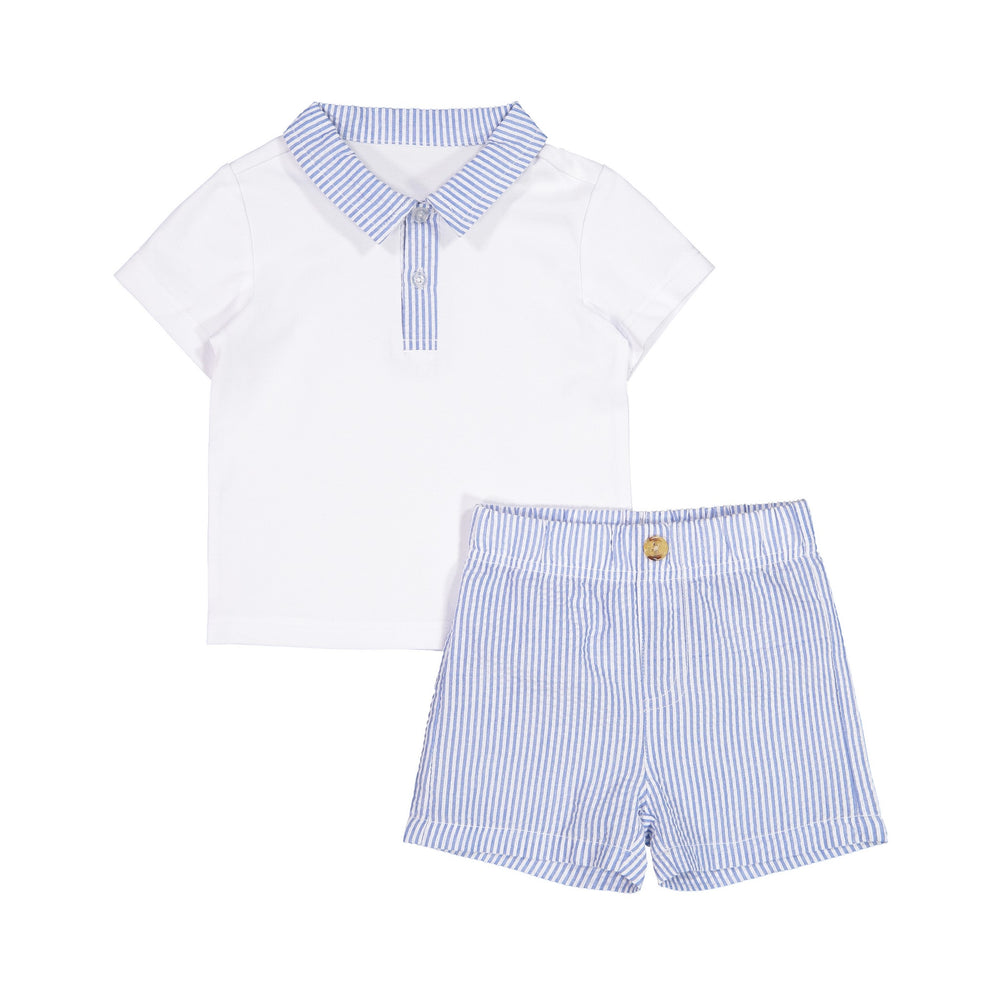 White Polo Set - Andy & Evan