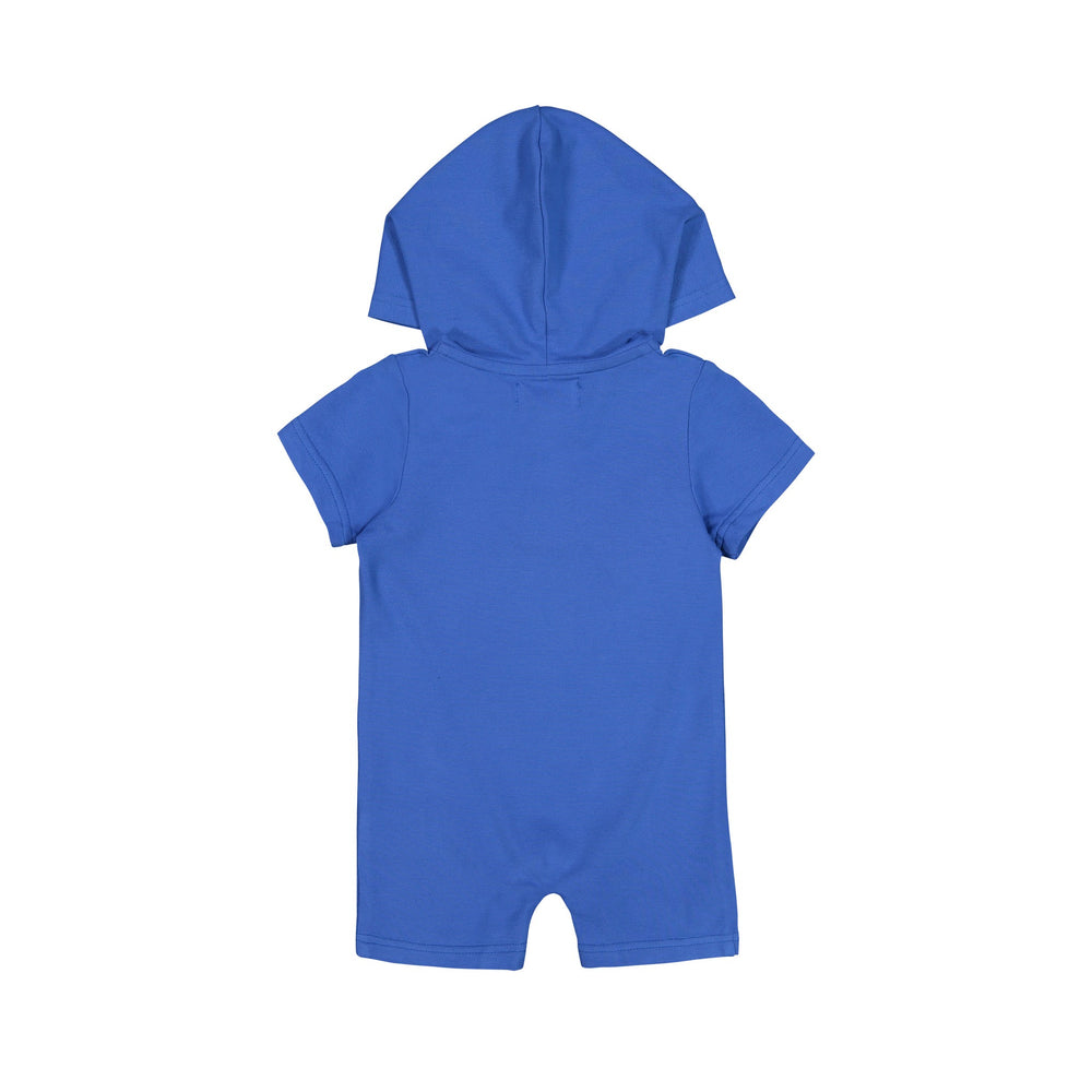 Blue Hooded Romper - Andy & Evan